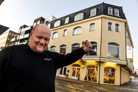NYE LOKALER: Martin Nilsen er strålende fornøyd med de nye lokalene han har funnet til The Note.