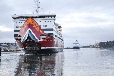 REKORD: Fjord Lines Oslofjord-ferje hadde flere passasjerer om bord i 2018 enn året før.