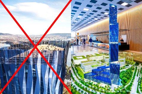 DELTE MENINGER: Etter at Anita Kron Traaseth kom med forslaget om å legge den 225 meter høye skyskraperen til Kjell Inge Røkke i Sandefjord, har det kommet mange sterke meninger angående hva som burde gjøres.