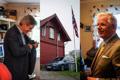 MARKERING: Norsk Jernbaneklubb feirer i år at de har eksistert i 50 år. Leder for lokalavdelingen i Vestfold, Hans Morten Tamnes (til høyre), mener at de har fått til mye i løpet av disse årene.