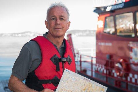 VIKTIG KUNNSKAP: 1 av 4 vestfoldinger forstår ikke sjøkart. Det mener Arne Voll i Gjensidige er for mange.