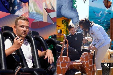 TIVOLITEST: SB-journalistene testet ut årets attraksjoner for både store og små på Lunds tivoli i Sandefjord, noe som førte til både litt skepsis og mye latter.