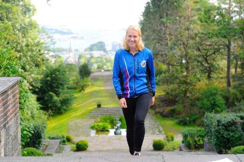 TILBAKE: Onsdag kveld går Midtåsenløpet 2019, og Kine Gulliksen håper mange hiver seg med.