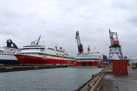 OPPGRADERT: Både MS Stavangerfjord og MS Oslofjord har en periode ligget i dokk i Danmark, men vil være tilbake i drift lørdag 25. januar, sistnevnte på ruten mellom Sandefjord og Strømstad.