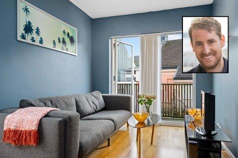 FØRSTEGANGS ELLER PENDLER: I denne leiligheten, midt i sentrum får du både egen balkong og tilgang til stor takterrasse i prisen. Antydningen er 1.500.000 kroner. FOTO: DNB/Inviso Boligfoto