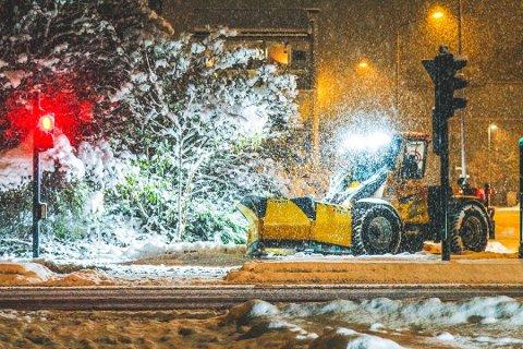 RO DET ELLER EI: I enkelte områder i Vestfold kan det bli snø torsdag.