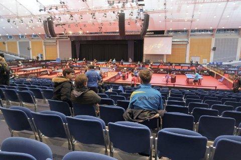 OSLOFJORD: Store arrangementer avvikles både i kongressenteret (bildet) og på Oslofjord Arena. Her fra bordtennis-NM i månedsskiftet februar/mars.