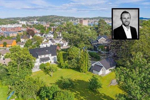 OPTIMIST: Eiendomsmegler Paal Hegdahl forteller at bransjen har kommet seg godt igjennom koronakrisen. Gjennomsnittsprisen for boliger solgt i Sandefjord i april i år var høyere enn i april i fjor.