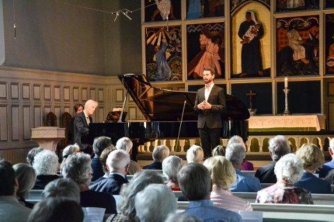 IMPONERTE: Halvor Melien, akkompagnert av Håvard Gimse på piano var en god kombinasjon.