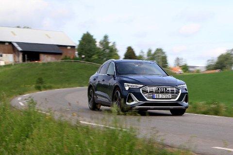 BIL: Audi e-tron er den mest solgte nye elbilen i Vestfold og Telemark første halvår av 2020.