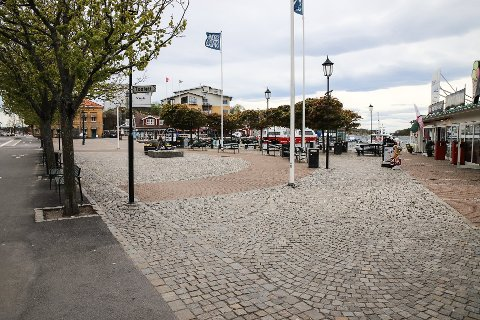 STILLEGATER:Det var vært tomt i Strömstad de siste månedene.