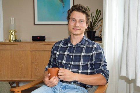 FØLER SEG HJEMME: Benjamin Brinckmann (28) angrer ikke på at han flyttet fra Nederland. Han stortrives i Norge og Sandefjord, og har nå etablert seg med egen familie her.