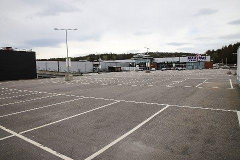 TOMT: Slik har det sett ut på Nordby Shoppingsenter siden grensene ble stengt.