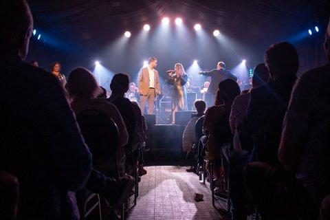 BEGYNTE I TELT: I navnet på konserten ligger også poenget - hva dette handler om - «Musikal! Musikal!». ARKIVFOTO: Celina Stamper