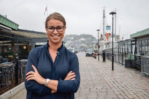 NY JOBB: Frida Helgesson (25) er fersk i stillingen som daglig leder for Kokeriet Restaurant AS.