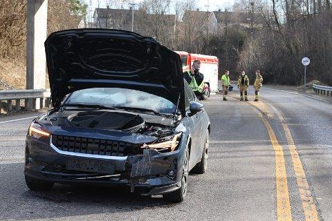 TRAFIKKULYKKE: Ulykken skjedde på Sandefjordsveien, like etter avkjøringen til Moveien.
