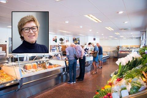DU KAN HANDLE: - Mange må ha lukket, men de er ikke stengt, forklarer lederen av Sandefjord Byen Vår, Elisabeth Teien. Bildet er tatt hos Brødrene Berggren. Forretningen selger mat og kan holde åpent. ILLUSTRASJONSFOTO: SBV/Visit Vestfold