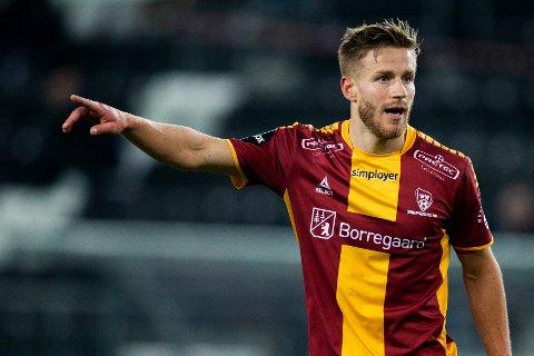 NY SIGNERING: Alexander Ruud Tveter er SF-spiller. Spissen, har spilt på Sarpsborg 08 de siste sesongene. Her fra kamp mot Odd i fjor.