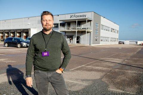 LEDER: Henning Romero Skallist leder Sandefjordsbedriften Foxway, som nå blir enda større.