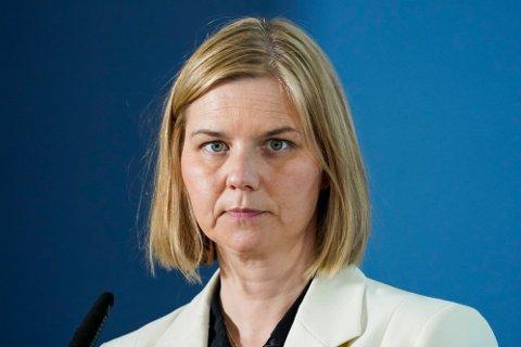 TAP AV LÆRING: Kunnskap- og integreringsminister Guri Melby har spesielt merket seg Sandefjord sin høye andel med hjemmeskole under pandemien.  Statsråden bekymrer seg spesielt over tap av læring hos sårbare elever.