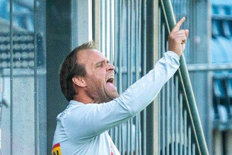 Drammen 20210624.  Sandefjords trener Hans Erik Ødegaard under eliteseriekampen mellom Strømsgodset og Sandefjord på Marienlyst stadion i Drammen. Foto: Terje Pedersen / NTB