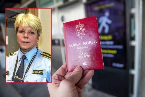 LANGE KØER: Torill Sorte i politiet setter inn tiltak for å få bukt med de lange passkøene. Passet har forøvrig skiftet utseende etter at bildet er tatt.