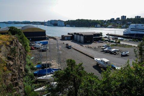 SOLCELLEPARK: Her på Framnes planlegger A/S Thor Dahl å anlegge en solcellepark som skal dekke et areal på fire mål.
