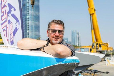 SPENT: Lars Inge Graver er glad for å arrangere båtrace i Larvik førstkommende lørdag.