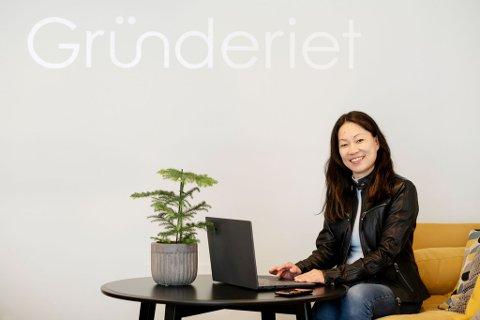 NYE PROSJEKTER: Tone Børsting har fått mye ut av å være på Gründeriet. Hun har kommet over flere nye samarbeid i kontorlandskapet ved siden av å være daglig leder i Sales Club.