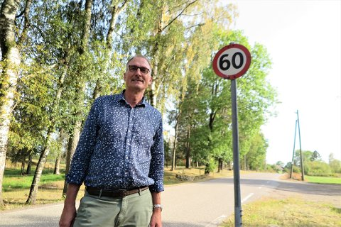 VIL REDUSERE FARTSGRENSENE: Harald Moskvil fra MDG ønsker å redusere fartsgrensen langs Romsveien til 40 kilometer i timen.