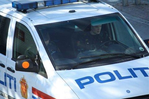 STANSET: Politiet stanset en 24 år gammel mann med en plastpistol i passasjersetet.