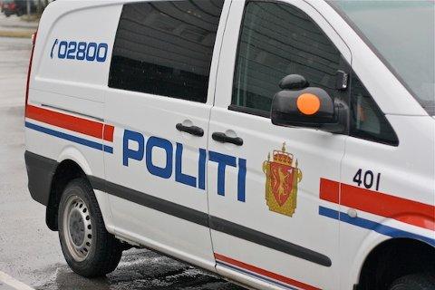 FRARÅDER FERDSEL: Politiet fraråder folk å bevege seg utpå isen på Gandsfjorden. Onsdag ettermiddag rykket de ut da tre gutter beveget seg på isen.