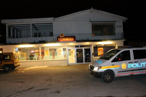 RANET: Pizzabakeren i Roald Amundsens gate i Sandnes ble ranet lille julaften.