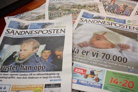 STABILE TALL: I en tid hvor svært mange aviser opplever nedgang, ligger lesertallene til Sandnesposten stabilt.