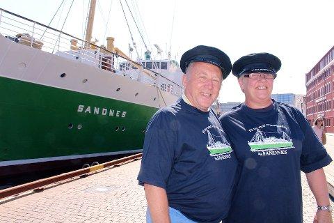 – EN DRØM: John og Jenny Thoroughgood fra Australia ble kjent med MS Sandnes gjennom en videosnutt på Youtube. Det som startet som en kommentar til videoen i håp om å få kjøpe én av t-skjortene de har på seg, endte med norgesbesøk og overnatting ombord på MS Sandnes.