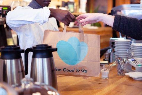 HINDRER MATSVINN: Appen Too Good To Go har som formål å hindre at mat havner i søppelet.