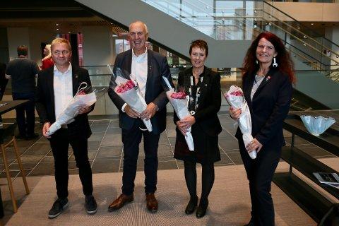 Pål Morten Borgli (Frp), Stanley Wirak (Ap), Laila Espedal (Sp) og Ellen Karin Moen (FNB) har funnet sin rettesnor.