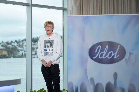 Emil Bratteli (17) fra Sandnes på audition i Arendal.
