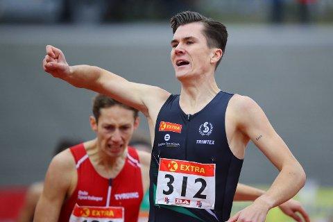 SUPERLØPER: Jakob Ingebrigtsen stiller til start i Hytteplanmila Rekordjakt 2020, og blir med det den største profilen på startstreken.