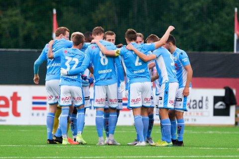 Det blir spennende å følge kamputviklingen mot Ranheim. Her er laget da de sist var i Trøndelag denne sesongen.