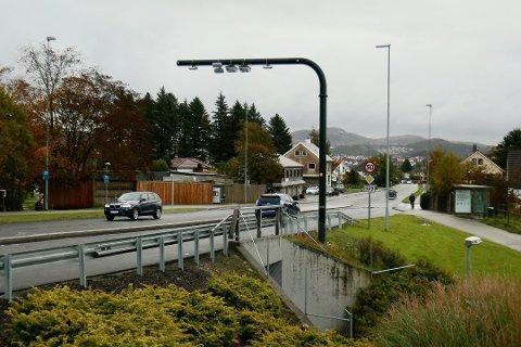 BOM: Bymiljøpakke Nord-Jæren er dessverre blitt forbundet med mange negative saker. Her er bommen i Oalsgata.