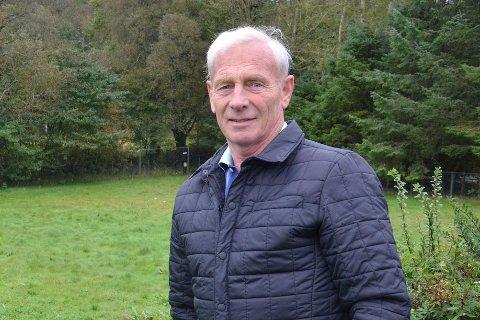 STOLT: Etter flere års kamp for å unngå utbygging av bolig og næring på dyrket mark, kan Martin Håland smile tilfreds.