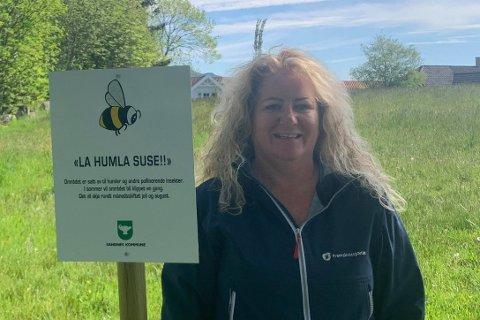 Inger-Lise Erga (Frp) og Sandnes kommune har bestemt seg for å bli en insektsvennlig kommune.