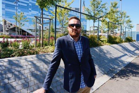FIKK GJENNOMSLAG: Leiv Rune Mjølsnes sørget for muligheter for tilgang til uteområder på de nye bygningene som skal reises i Havneparken.