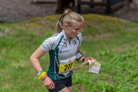 STERK:  Kaja Peikli tok en solid gullmedalje i D16. Foto: Privat