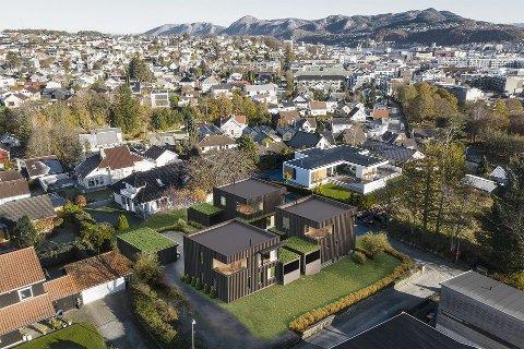 Disse boligene skal bygges i det som tidligere het Kapellveien. Nå har gata fått nytt navn.