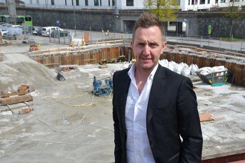 VIL MERKES: Daglig leder i TPG (The Property Group) Kjetil Andersen mener flyttingen av Vinmonopolet ut av sentrumskjernen vil få negative konsekvenser for videre sentrumsutvikling.