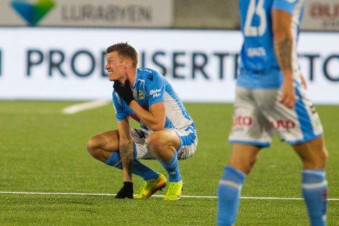 Sandnes Ulfs Kent Håvard Eriksen blir igjen på banen etter 1. divisjonskampen i fotball mellom Sandnes Ulf og Tromsø på Østerhus Arena.