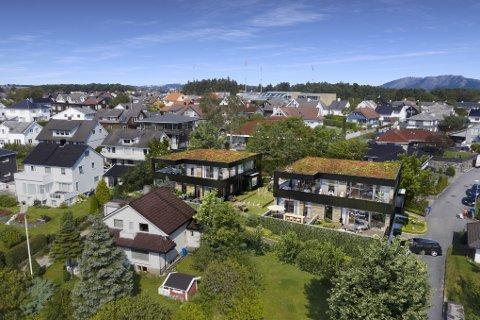 Illustrasjonsbilde: Slik skal boligprosjektet Villa Vemork se ut.
