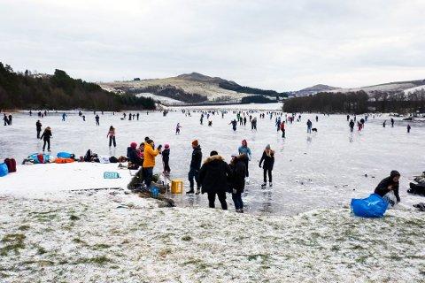To personer gikk gjennom isen på Bråsteinsvatnet tidligere i år.